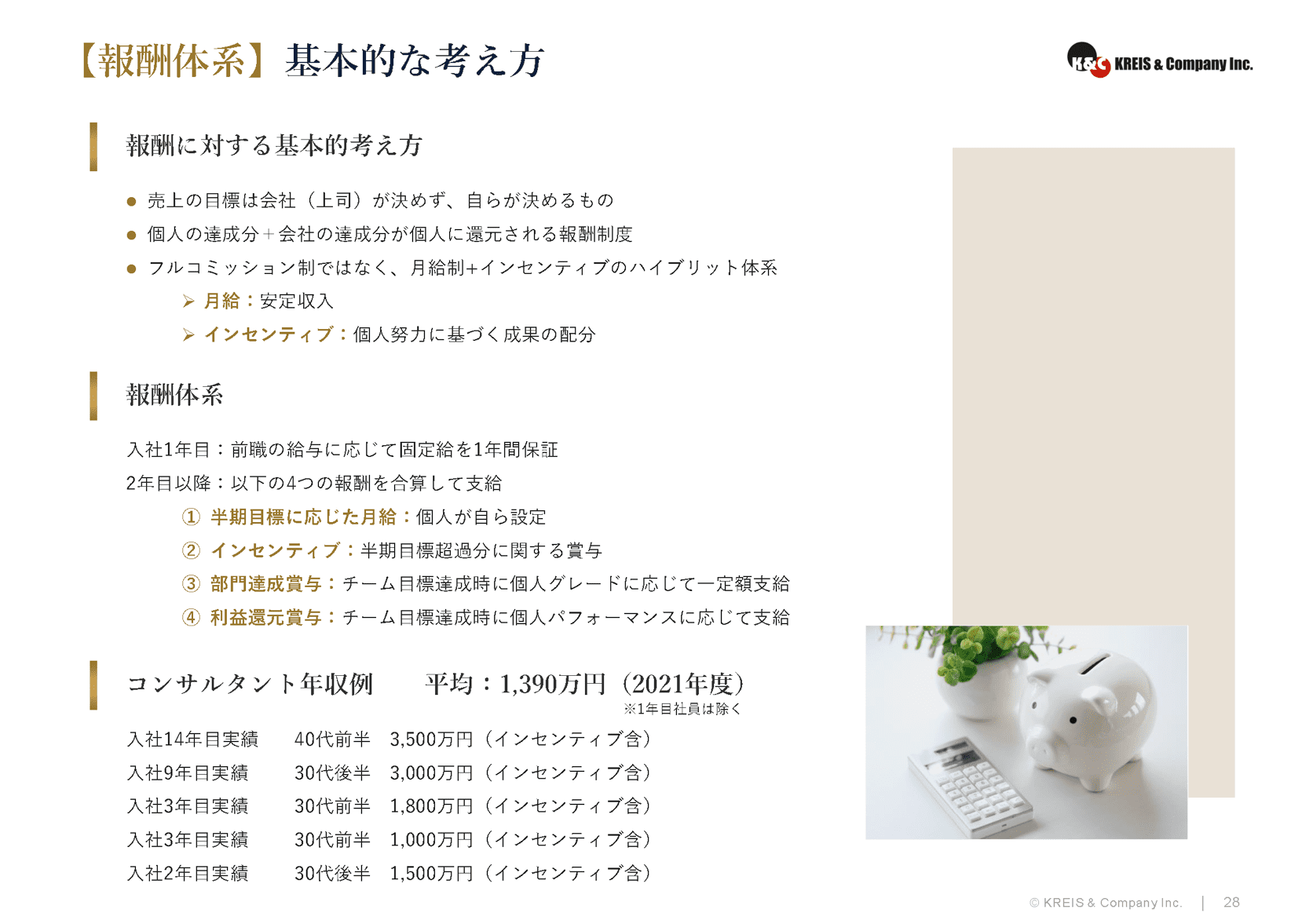 【報酬体系】グレード/インセンティブ